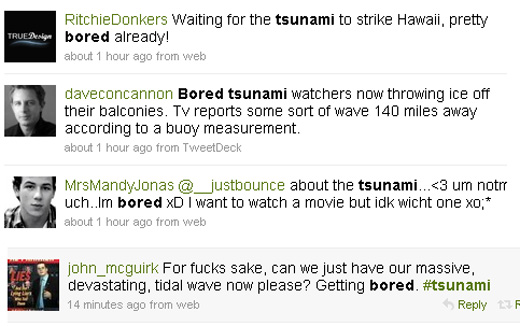Twitter Hitsunami Bored